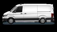En frilagd Volkswagen Crafter Skåp
