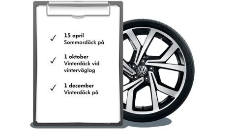 Kalender över datum för däckbyte i Sverige