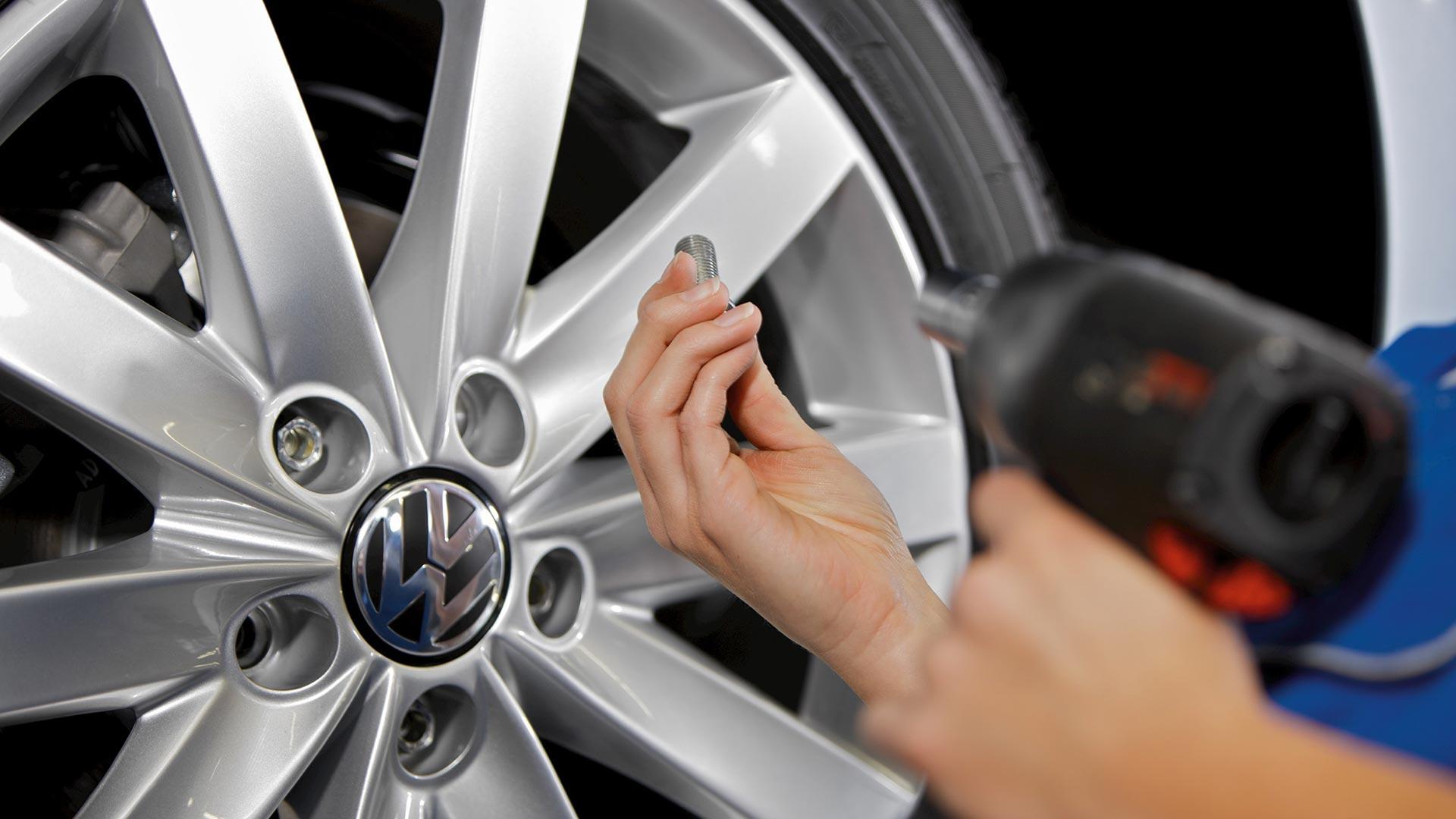 Däckbyte hos Volkswagen