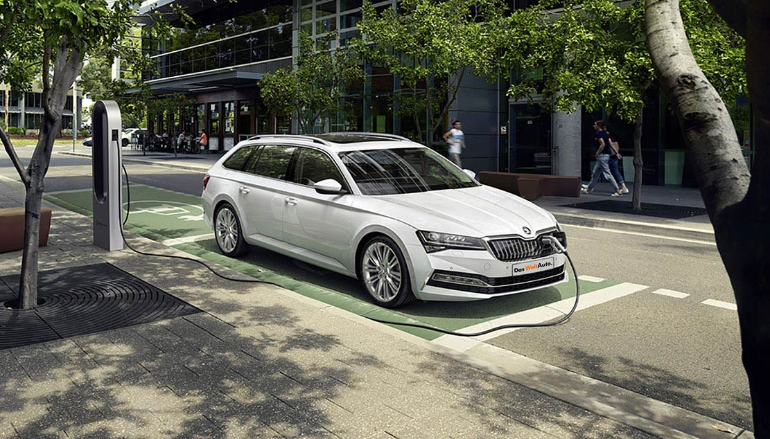 Laddhybriden ŠKODA SUPERB PHEV
