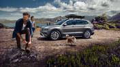 Familj på utflykt med Volkswagen 4MOTION