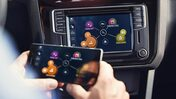 Infotainment i en Volkswagen Caddy
