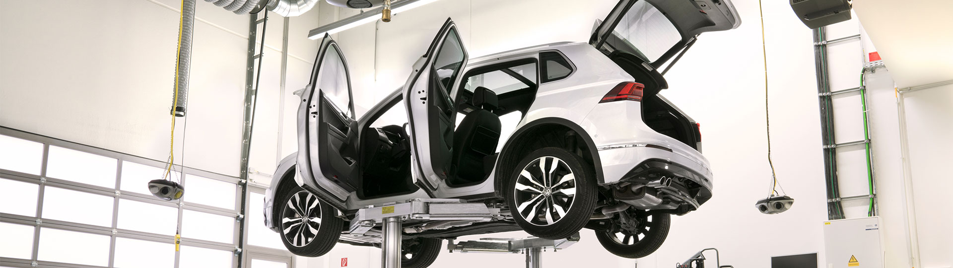 Volkswagen Tiguan på verkstan