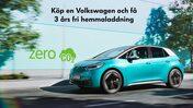 Köp en Volkswagen och få 3 års fri hemmaladdning med Jämtkraft. Turkos VW ID3 Zero CO2.